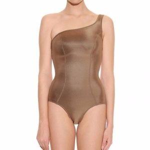 Lisa Marie Fernandez Gold Metallic Bathing Suit